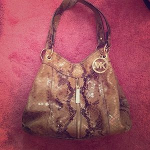 Snakeskin Michael Kors shoulder bag